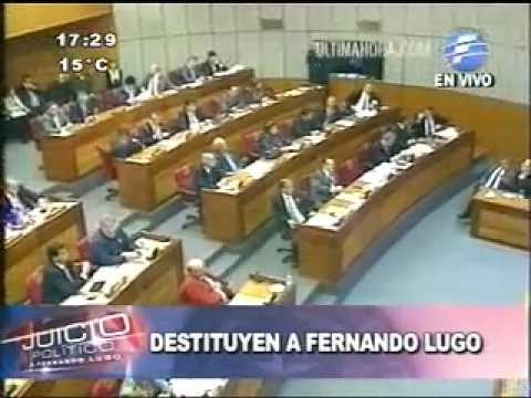 Presidente do Paraguai sofre impeachment
