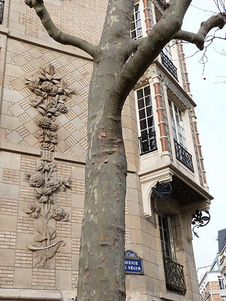 détail immeuble avenue de Ségur