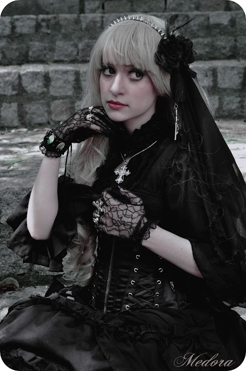 ♔ ☨。. Gothic Lolita Photoshoot  .。☨ ♔