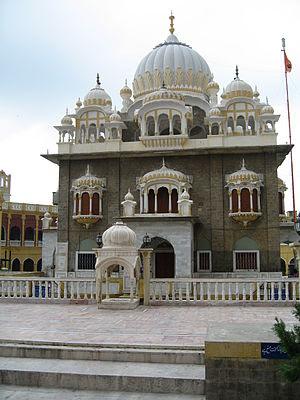 Interior of Panja Sahib Gurdwara in Hasan Abdal