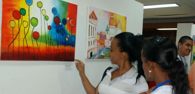 Exposición de pintura en el Centro Cultural de Cali