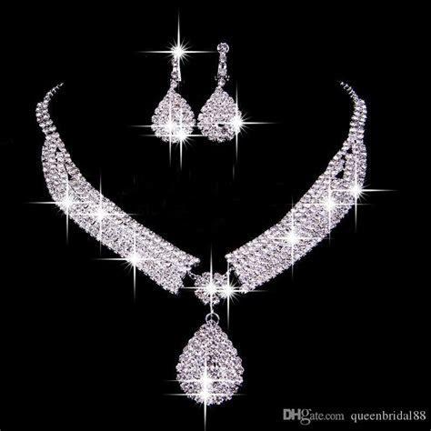 Vintage Two Pieces Jewelry Sets 2018 Luxury Drop Earrings