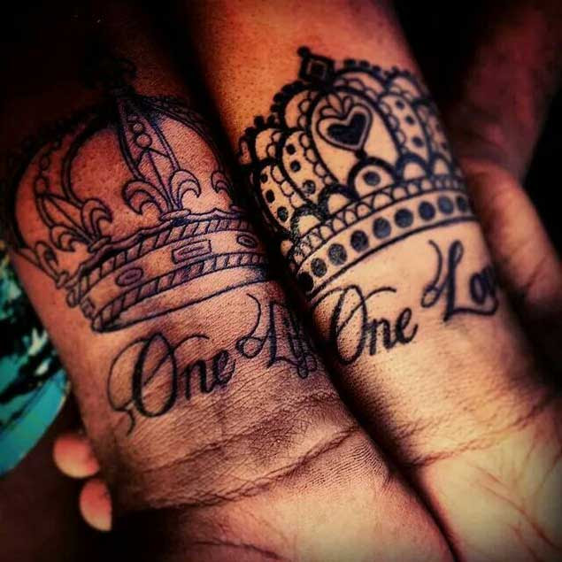 20 Amazing King And Queen Tattoos Its Easy If You Do It Smart