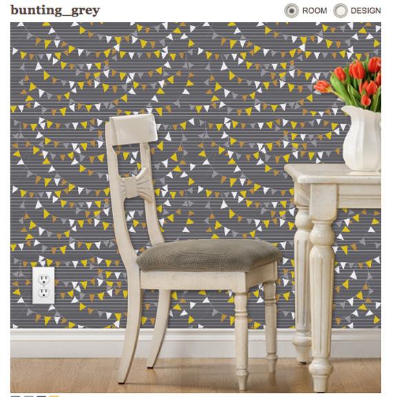 bunting wallpaper