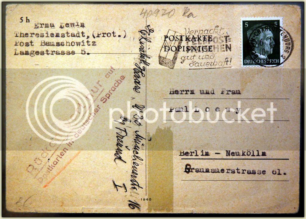 Postcard address