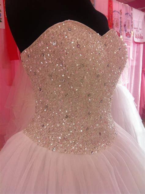 Princess White Or Ivory Crystal Beading Wedding Dress