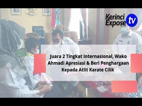 Juara 2 Tingkat Internasional, Wako Ahmadi Apresiasi & Beri Penghargaan Kepada Atlit Karate Cilik