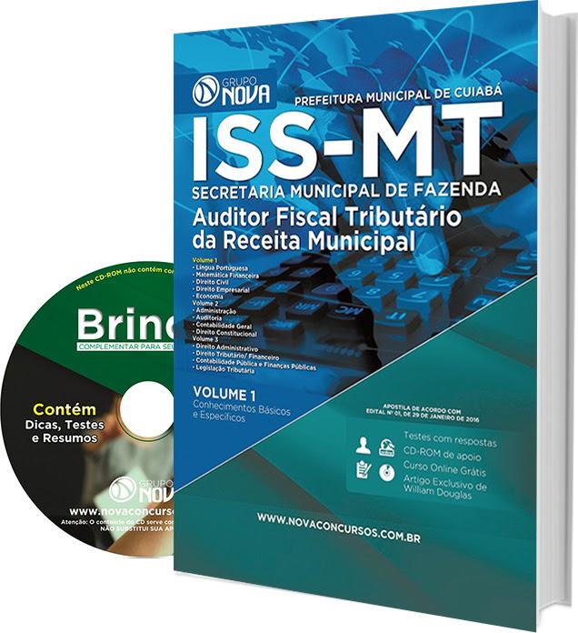 Apostila Auditor Fiscal Tributário Cuiabá (MT).