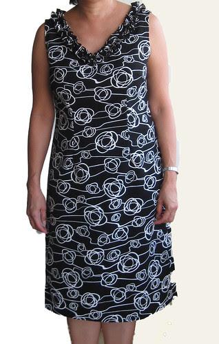 Carol BW dresss full front