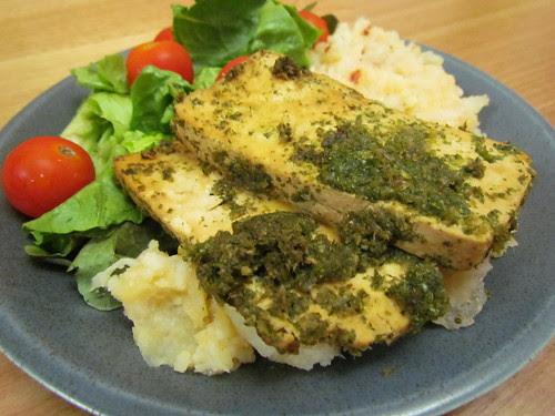 Tofu Chimichurri; Chipotle Caulipots