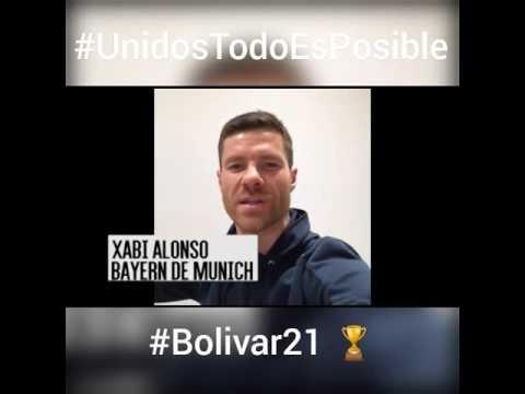 XABI ALONSO Y ARITZ ADURIZ, SALUDAN AL CLUB BOLÍVAR DE LA PAZ