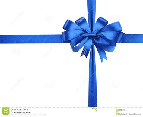 Bowknot Of Blue Ribbon. Royalty Free Stock Image   Image