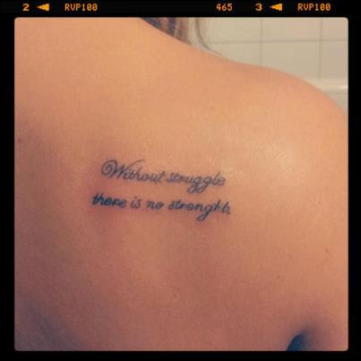 Lettering Shoulder Blade Tattoo Design Tattoomagz