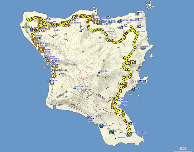 2012-10-13 綠島Day1機車遊 map