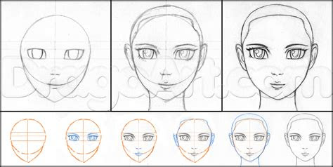 draw anime faces  pencil step  step anime