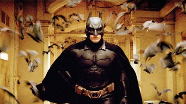 Batman facing his fear of bats