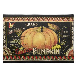 Vintage Pumpkin Seed Package Placemat