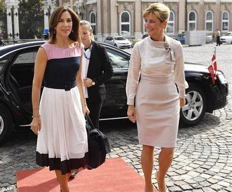 Crown Princess Mary of Denmark meets Hungary's First Lady