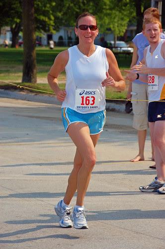 runner in the Ludington Lakestride