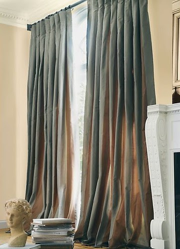 Restoration Hardware Silk Taffeta Drapes
