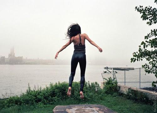 Jump woman
