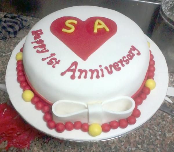 1st Anniversary Special Cake C128 Cakeatdoorcom