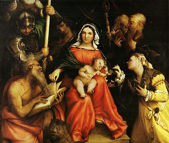 Matrimonio mistico di Santa Caterina d'Alessandria e santi