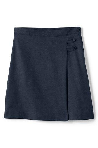 Little Girls' Solid A-line Skirt (Below The Knee) - Classic Navy, 6