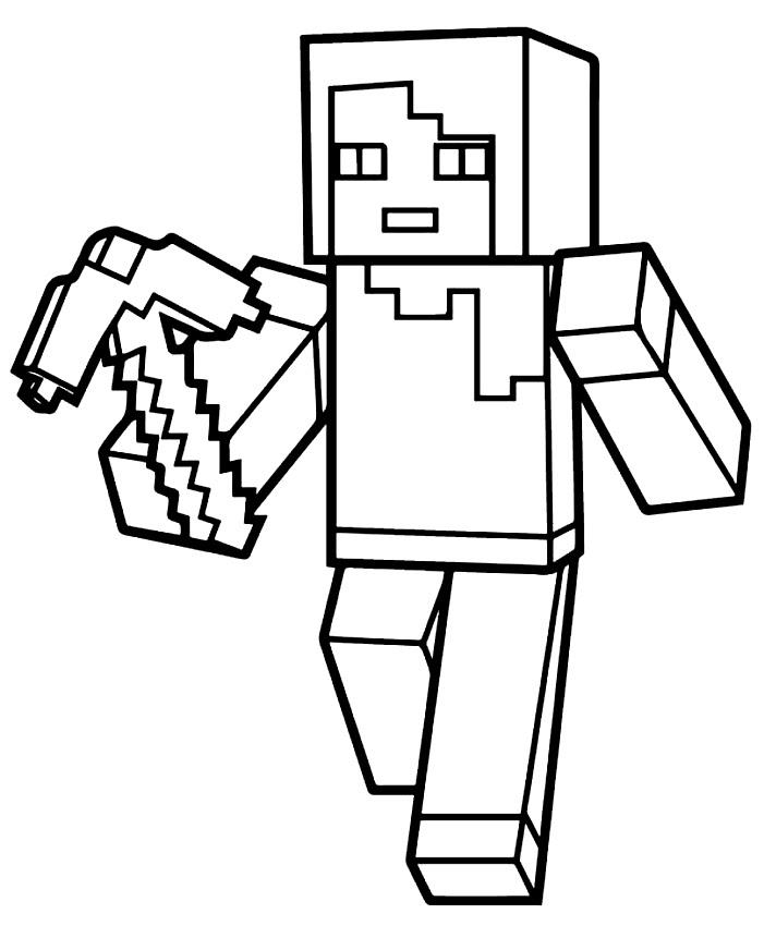 Disegno Di Villico Di Minecraft Da Colorare