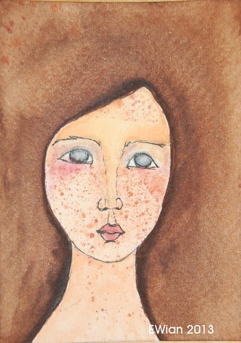 60-365 ATC 2013 brown haired freckled girl
