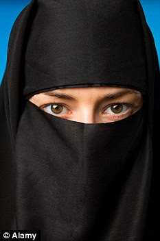 Veiled: Nassim Mimoune was jailed for punching a nurse who removed his wife's burqa. (Stock image)