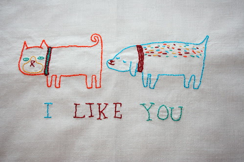 Valentine's embroidery