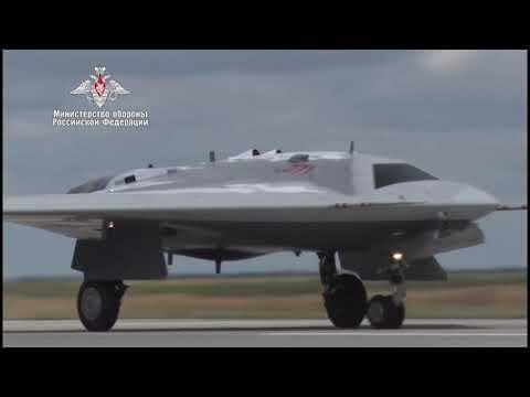 Первый полёт российского тяжёлого ударного дрона