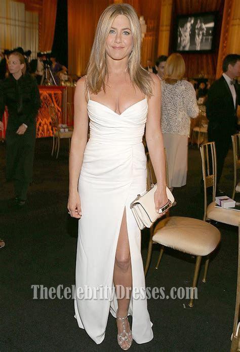 Jennifer Aniston White Prom Dress 40th AFI Life
