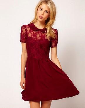 Image 1 ofASOS Lace Shirt Dress With Peterpan Collar