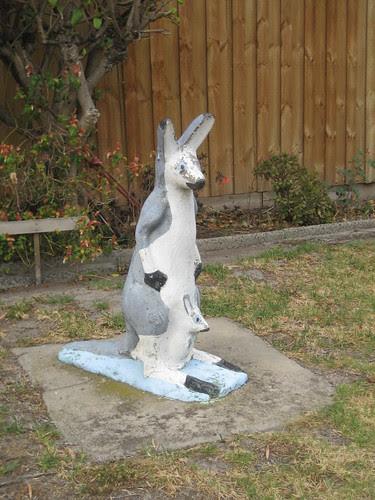Kangaroo Garden Sculpture