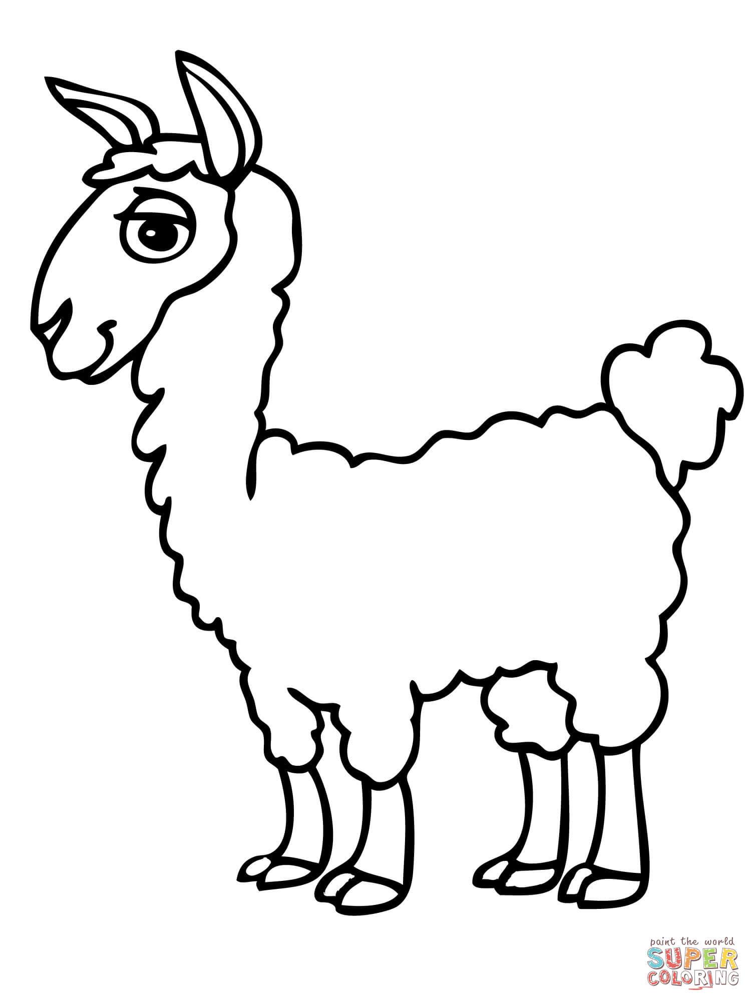 Wunderbar Süße Lama Malvorlagen Bilder - Malvorlagen Von Tieren ...
