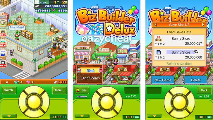 Biz Builder Delux v2.01 Cheats
