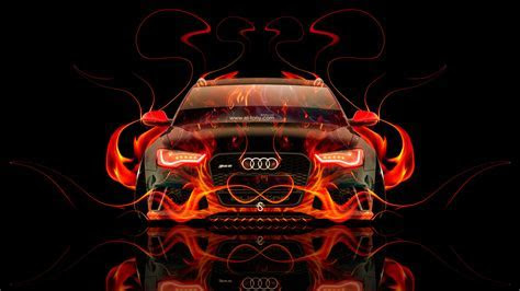 Audi RS6 Front Fire Abstract Car 2014   el Tony