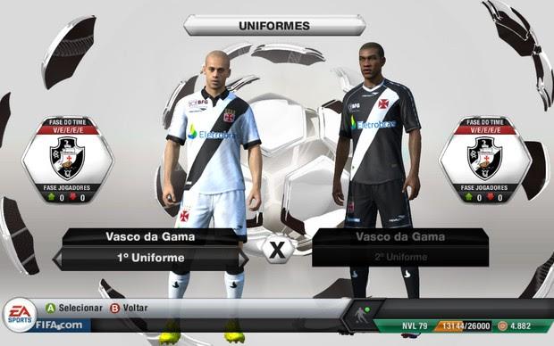 Vasco é outro clube que receberá o kit em Fifa 13 (Foto: Reprodução)