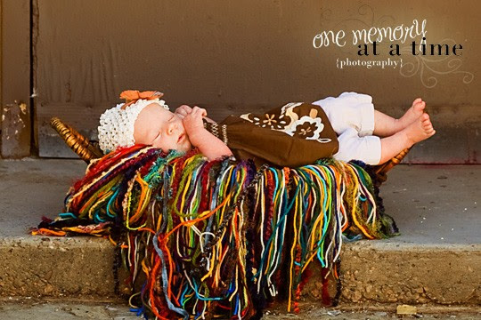 Alisha of One Memory at a Time Photography, a sweet baby girl and my Bohemian Fringie in the newborn size