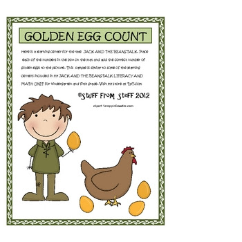 Jack and the Beanstalk Golden Egg Count {FREE}
