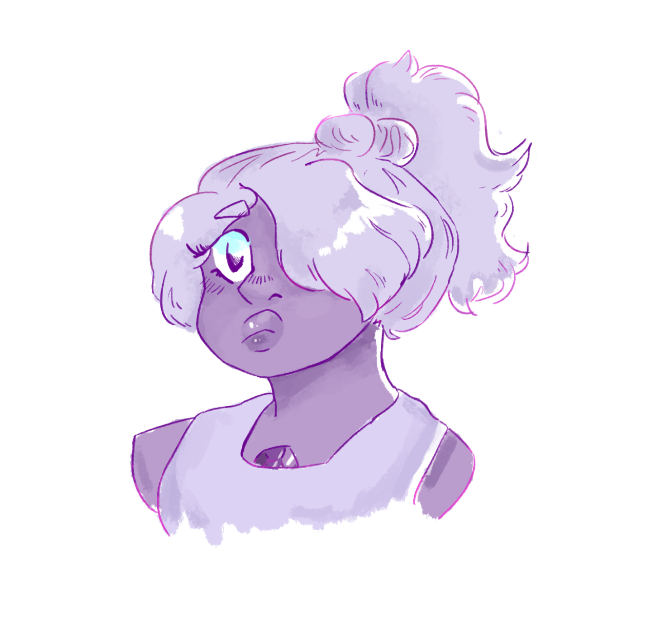 can we talk abt amethysts ponytail for a second..,