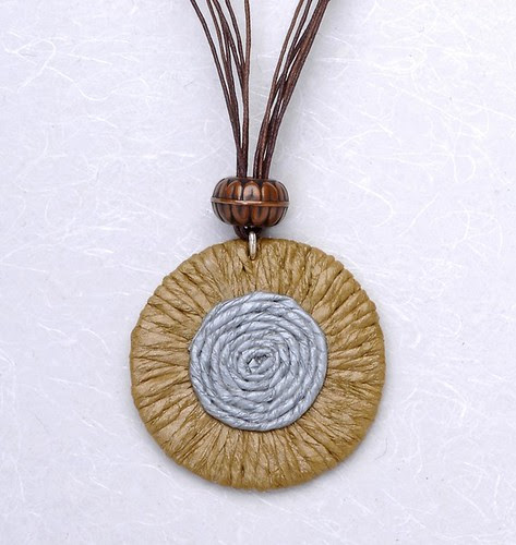 Earthy Disc Pendant