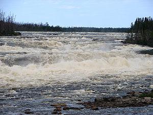 Oatmeal Rapids on the Rupert River, Quebec, Ca...