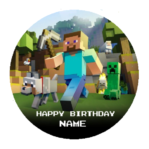 Minecraft Edible Cake Topper Viparty