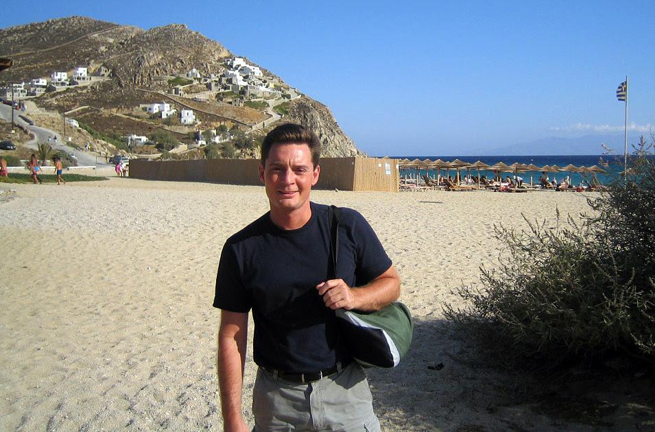 Me in Mykonos, Greece in 2005