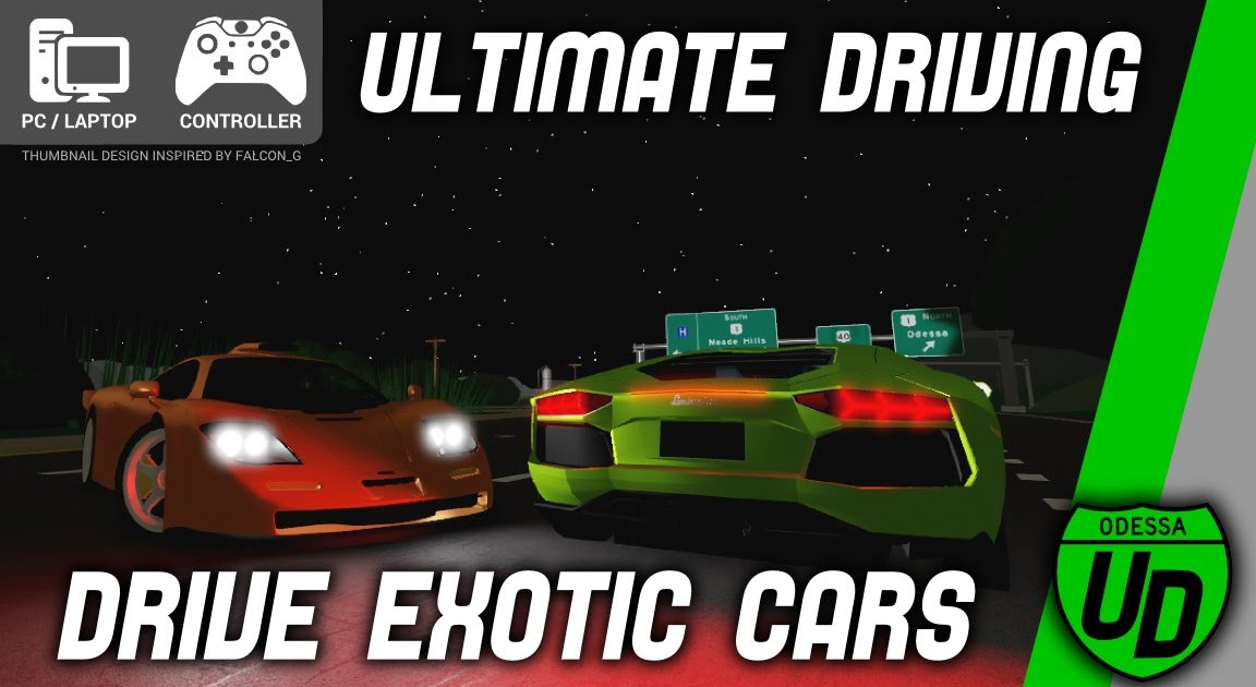 Roblox Ultimate Driving Lamborghini Free Robux Games On Roblox