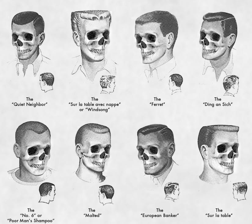 Eight Haircuts  Male  The Hairy Skeleton