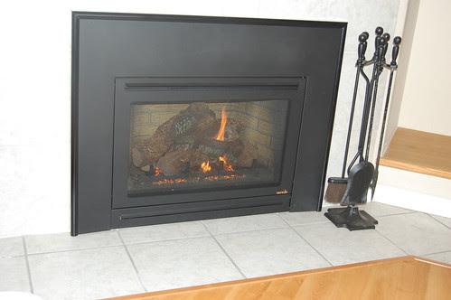 It's a gas fireplace...